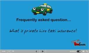 What is private hire taxi insurance?